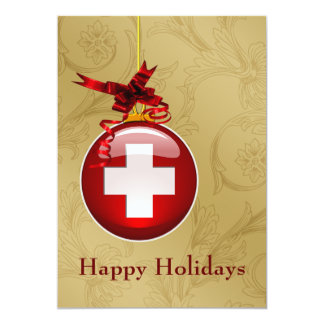 "medical profession red cross sign Holiday Cards 5"" X 7"" Invitation Card"