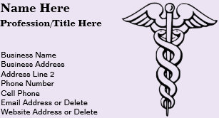 Medical business cards 3200 medical business card templates medical profession symbol caduceus nursing business card colourmoves
