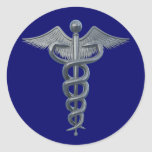Medical Profession Symbol Classic Round Sticker at Zazzle
