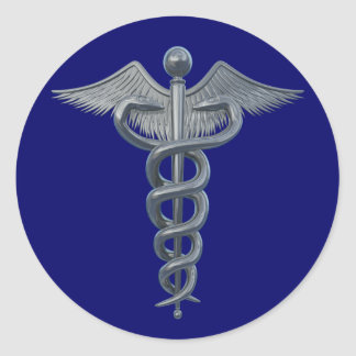 Medical Profession Symbol Classic Round Sticker