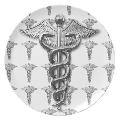Medical Profession Symbol Dinner Plates