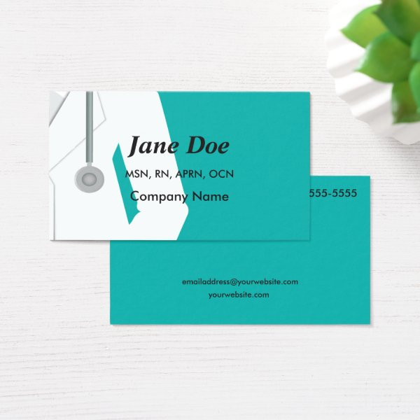 Medical Professional Health Care Business Cards