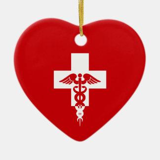 Medical Professional heart ornament, customize Ceramic Ornament