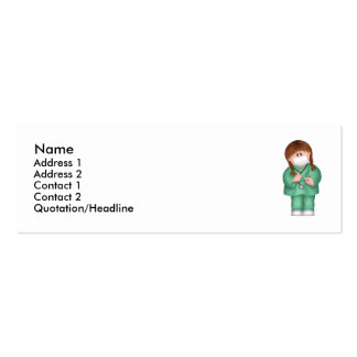 Medical Profile Card Double-Sided Mini Business Cards (Pack Of 20)