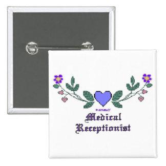 Medical Receptionist CS Print 2 Inch Square Button