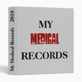 Medical Records Binder - Customize it!