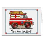 Medical Rescue Van Party Invitation Felicitación