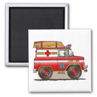 Medical Rescue Van Square Magnet