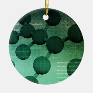 Medical Research and Corporate Technology As Art Ceramic Ornament