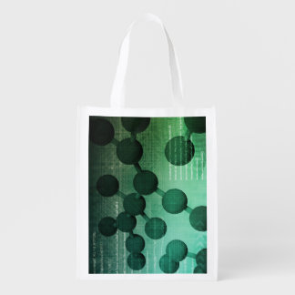 Medical Research and Corporate Technology As Art Grocery Bag
