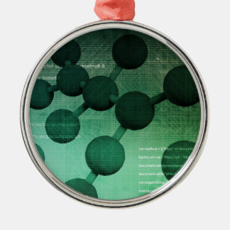 Medical Research and Corporate Technology As Art Metal Ornament