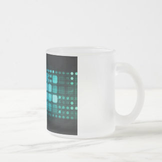 Medical Research and Corporate Technology Frosted Glass Coffee Mug