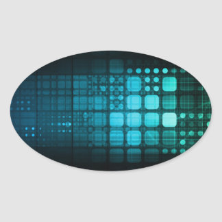 Medical Research and Corporate Technology Oval Sticker