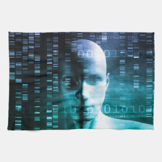 Medical Research in Genetics and DNA Science Kitchen Towel