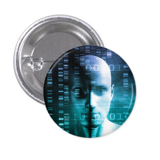 Medical Research in Genetics and DNA Science Pinback Button