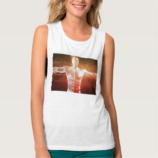 Medical Research on the Human Body as Concept Tank Top