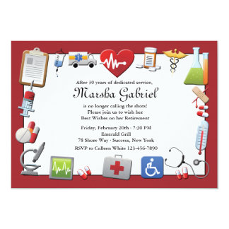 Medical Retirement Party Invitation