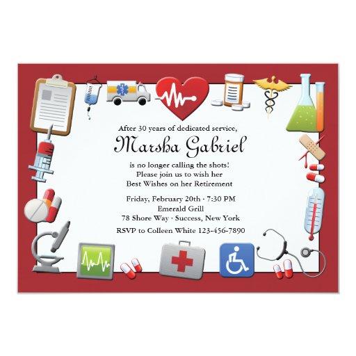 Medical Retirement Party Invitation | Zazzle