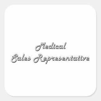 Medical Sales Representative Classic Job Design Square Sticker