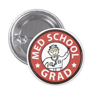 Medical School Grad (Male) Pinback Buttons