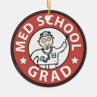 Medical School Grad (Male) Ceramic Ornament