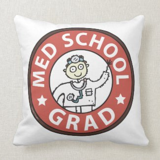 Medical School Grad (Male) Pillows