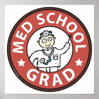 Medical School Grad (Male) Print