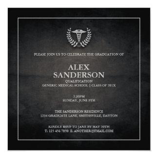 Medical School Graduation Announcement | Black