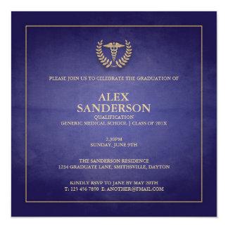 Medical School Graduation Announcement | Blue