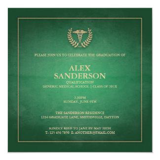 Medical School Graduation Announcement | Green