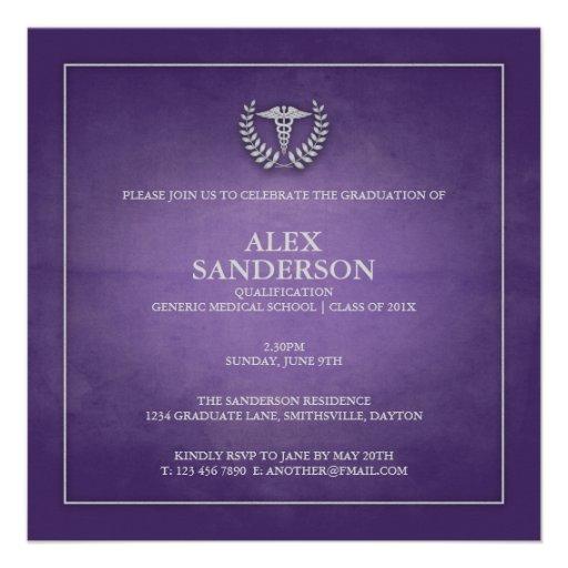 Medical School Graduation Announcement | Purple
