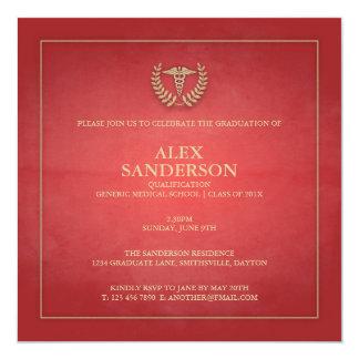 Medical School Graduation Announcement | Red
