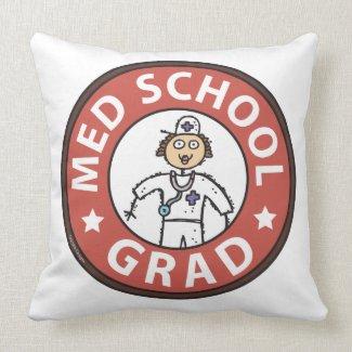 Medical School Graduation (Female) Pillows
