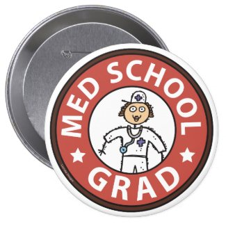 Medical School Graduation (Female) Pin