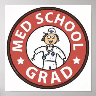 Medical School Graduation (Female) Posters