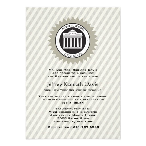 Medical School Graduation Invitation