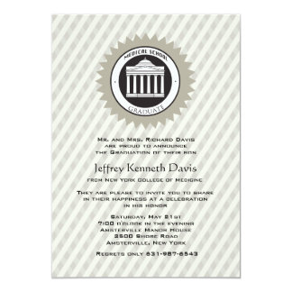 "Medical School Graduation Invitation 5"" X 7"" Invitation Card"