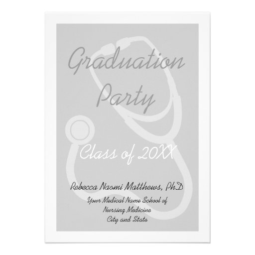 Medical School Graduation Party Invitation