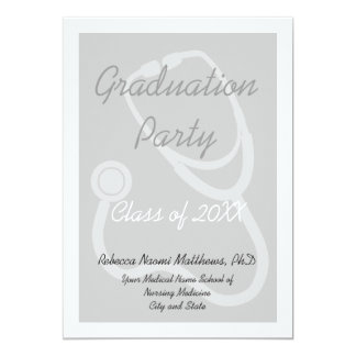 "Medical School Graduation Party Invitation 5"" X 7"" Invitation Card"