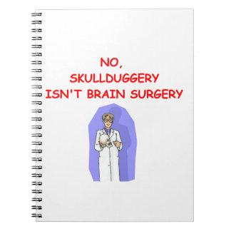 medical school joke spiral notebook