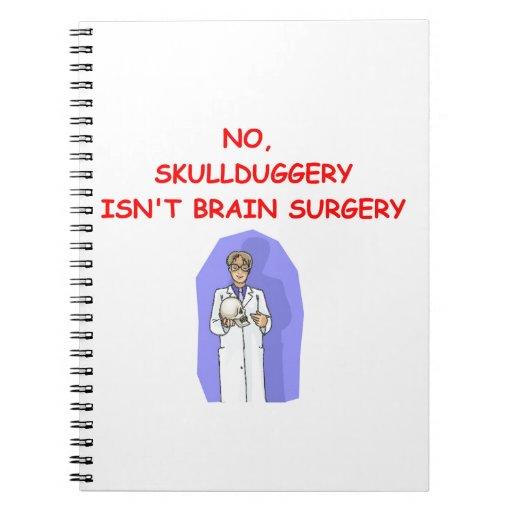 medical school joke spiral note book