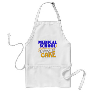 Medical School - Piece of Cake Adult Apron