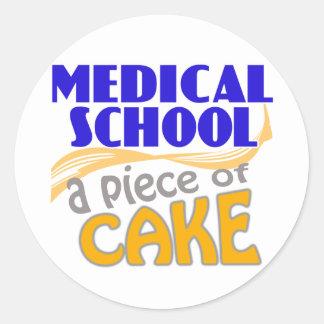 Medical School - Piece of Cake Classic Round Sticker