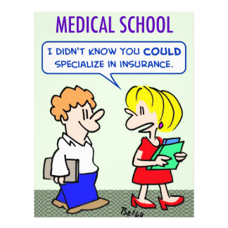 "medical school specialize insurance 8.5"" x 11"" flyer"