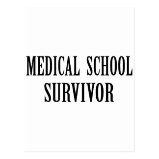 Medical School Survivor Postcard