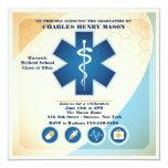 """Medical Science Graduate Party Invitation 5.25"""" Square Invitation Card"""