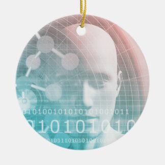 Medical Science of the Future with Molecule Ceramic Ornament