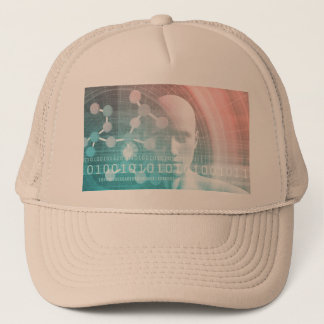 Medical Science of the Future with Molecule Trucker Hat