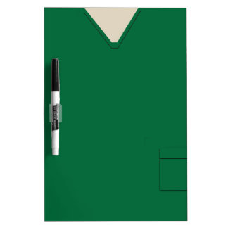 Medical Scrubs Dark Green Dry Erase Dry-Erase Board