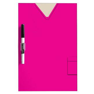 Medical Scrubs Hot Pink Dry Erase Dry-Erase Board